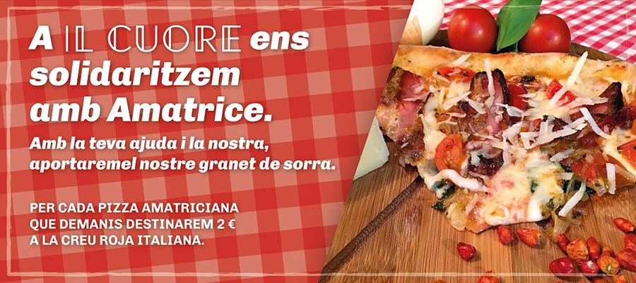 Pizza Amatriciana solidària a Reus per a ajudar a les víctimes del terratrèmol d'Itàlia